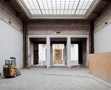 In deze zaal vonden oorspronkelijk tijdelijke tentoonstellingen plaats. Ook hier zal het dak verwijderd worden om plaats te maken voor het verticale museum