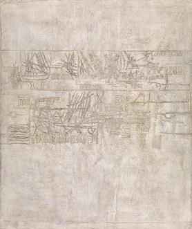 Marc Mendelson, Een bladzijde op wit geschreven, (1964), KMSKA, inv. nr. 3046, Lukas - Art in Flanders, foto's Hugo Maertens