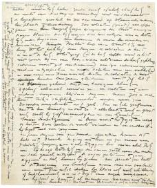 Pagina's uit de brief van Pieter de Mets over Rik Wouters aan Jozef Muls, 19 augustus 1916.