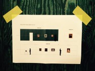 Een zaalplan van de tentoonstelling.