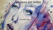 चेहरे मुस्कराते हैं।