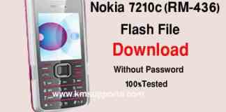 Nokia 7210c RM-436 Latest Firmware Flash Without Box