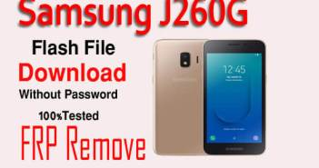 Samsung J260G Flash File Download Without PasswordFRP Remove