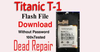 Titanic T1 Flash File Download Without Password|100% Tested