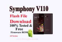 Symphony V110 Flash File Download Without Password All Versions