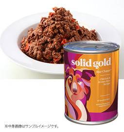 ソリッドゴールド チキン&レバー缶 製品イメージ