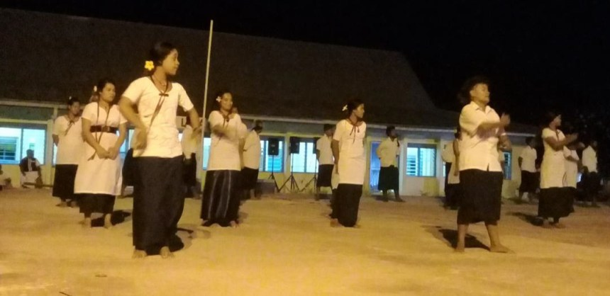 The Funafuti youths in action
