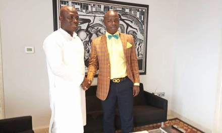 City Mayor Koijee meets his Ghanaian counterpart, hopes to see a beautiful City of Monrovia in the coming years.