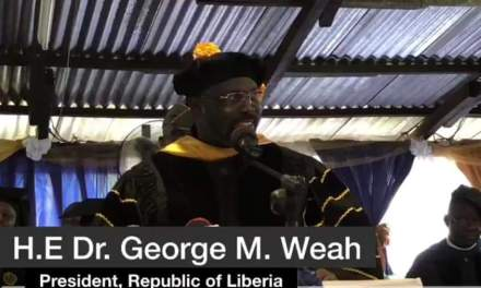 The Path Will Not Always Be Clear,President Weah Challenged members of the 57th Graduating Class of Cuttington University