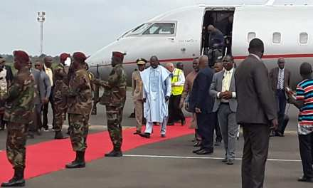 President George Weah Returns Home After An Official Visit From Senegal