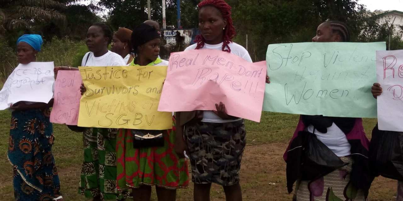 Women protest at Court Opening in Grand Bassa County But….