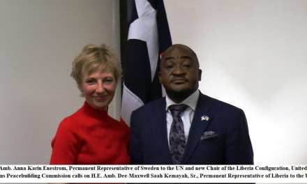 """""""International Community Remains Indispensible Partner to Liberia"""": Ambassador Kemayah stresses as he welcomes new Chair of the UN Peacebuilding Commission Liberia Configuration"""