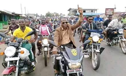 Motorcyclists Endorse Senatorial Bid of CDC Candidate in Margibi County