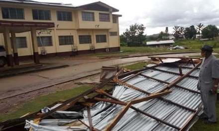 Storm Snitches Roof off Lofa County Administrative Building
