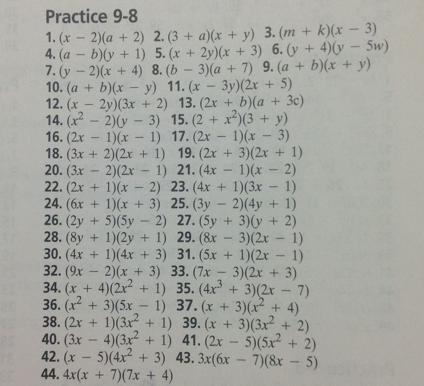 Algebra 1 Glencoe Mcgraw Hill Answer Key For Homework