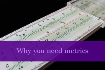 An old fashioned slide rule symbolises metrics