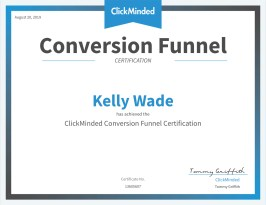 Conversion funnel certification from ClickMinded