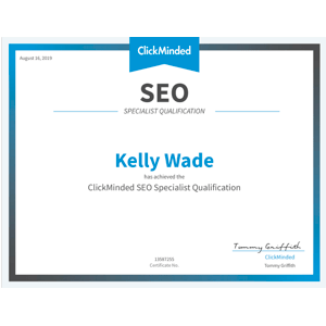 SEO certification from ClickMinded