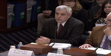 Kodiak Electric Association President and CEO Darren Scott testifying in favor of HR 220. Screen capture via YouTube