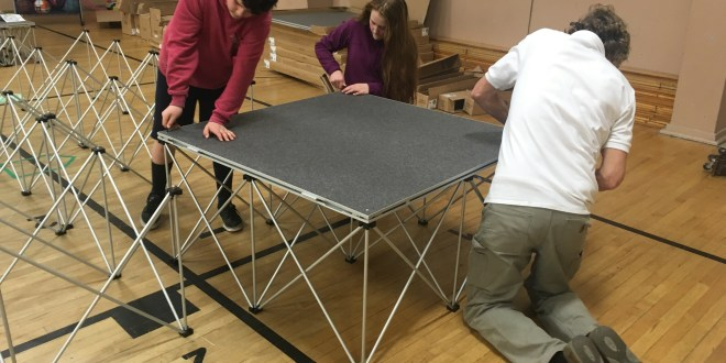 St. Mary's School installs new stage
