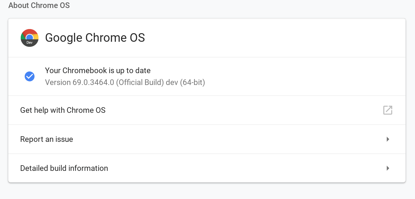 ChromeOS 69.0.3464.0 brings Plenty of Bugs, Better Together, Android P Styling, File Manager Changes and Crostini Support to More Devices