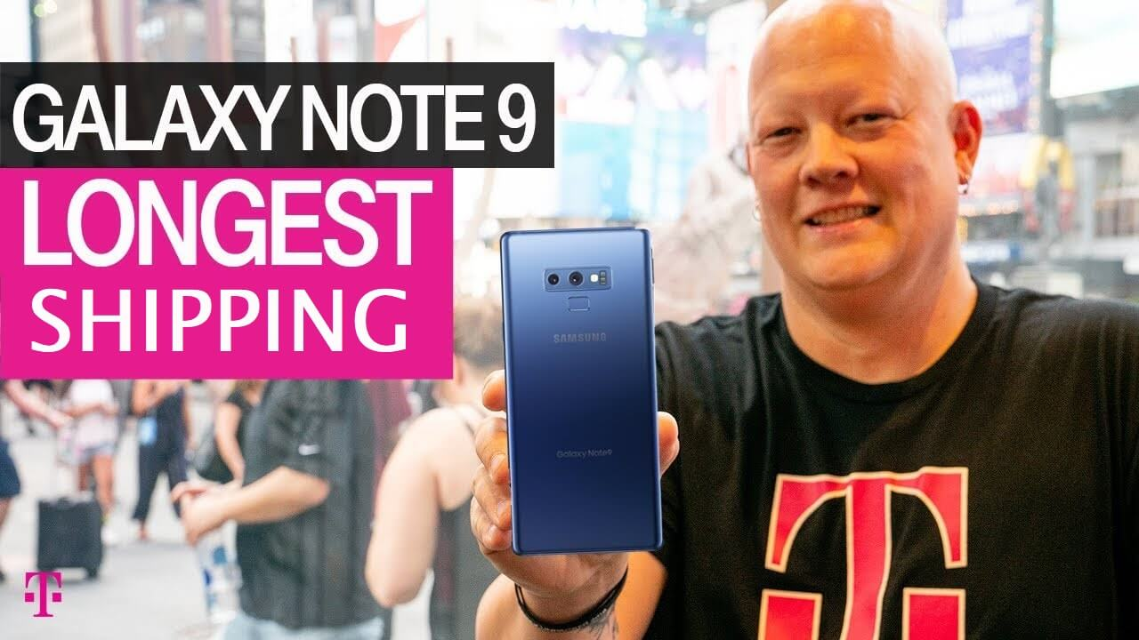 T-Mobile 512 GB Samsung Galaxy Note 9 Experiencing Major Shipping Delays