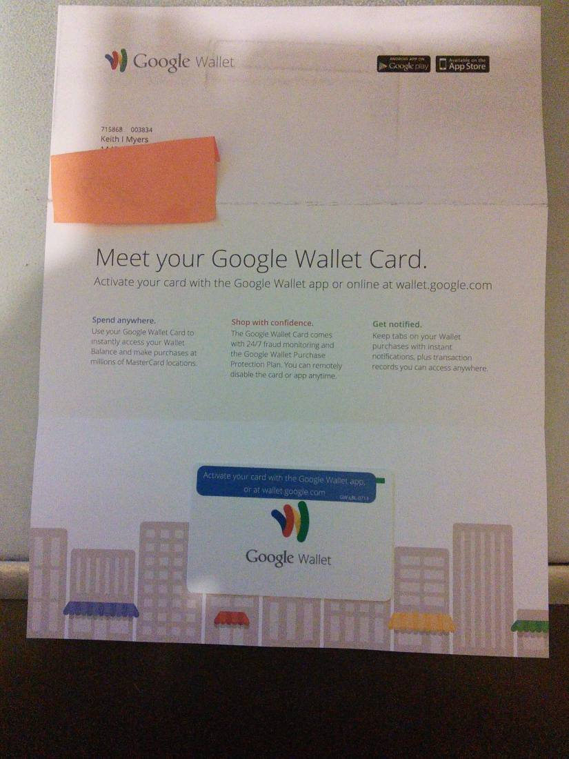 Hey... My Google Wallet Card is in