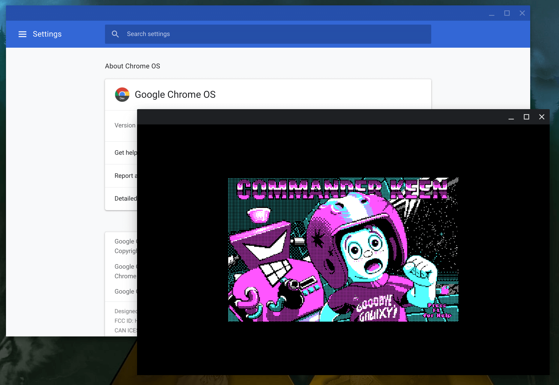 ChromeOS 74.0.L337.0 Rolling out to the Dev Channel – Enables MS-DOS Mode with Full CGI Graphic Stack