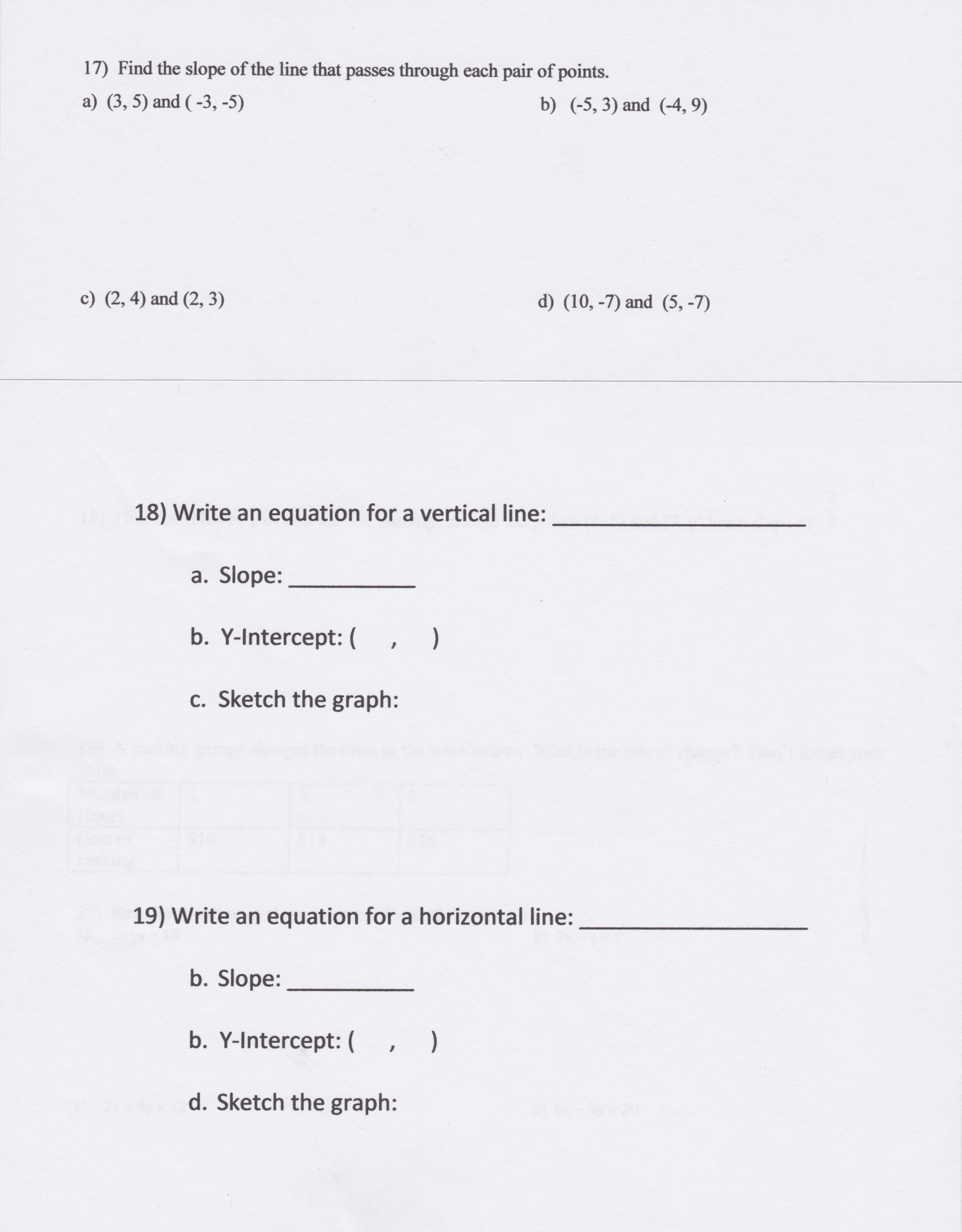 hight resolution of Slope Intercept Form Worksheets 8th Grade   Printable Worksheets and  Activities for Teachers