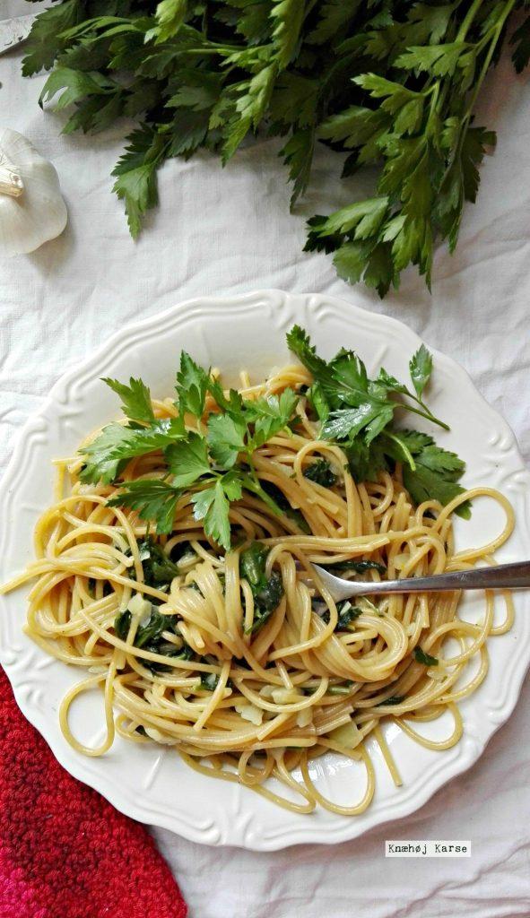 One pot pasta med spinat