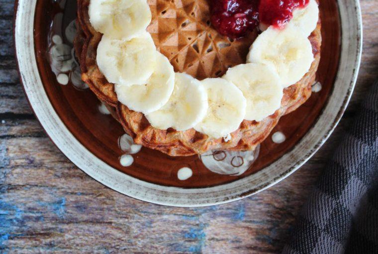 Veganske bananvafler uden tilsat sukker
