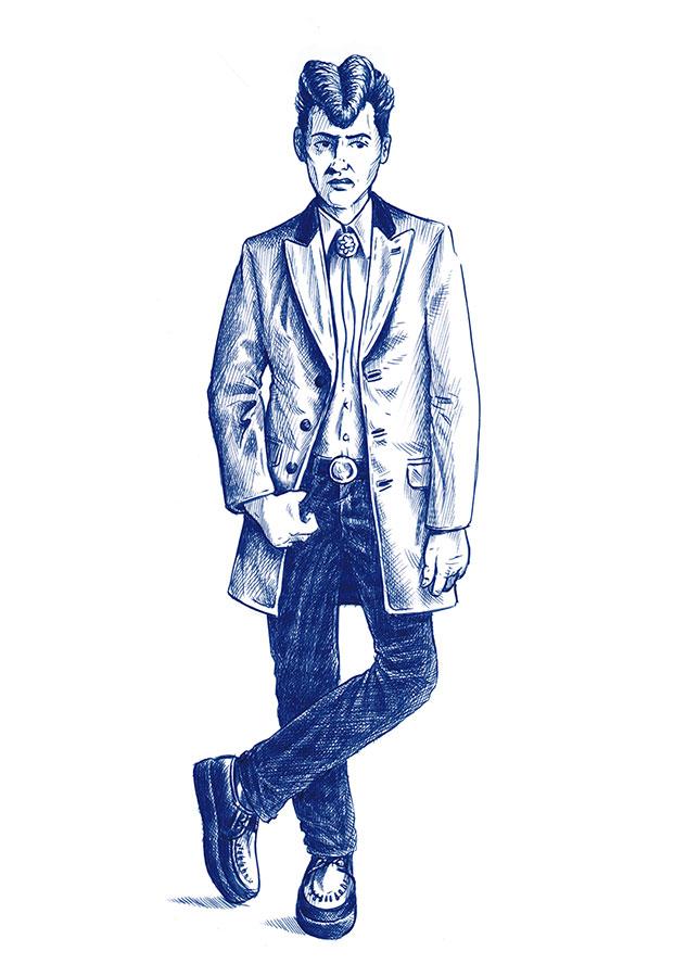 Editorial-Zeichnung-Teddyboy-Fashion