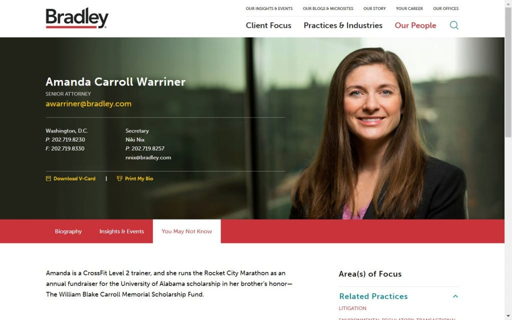 six great attorney bios