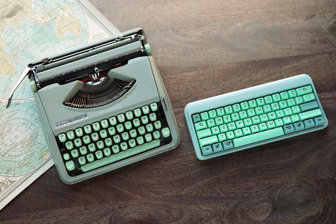 The Mercury Rocketeer keyboard brings you back to your roots