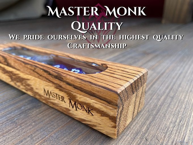 Show off those dice (and protect them) in the Master Monk Oracle Dice Box