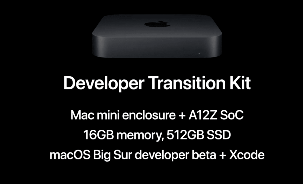 The Apple Silicon DTK Developer Transition Kit is a Mac mini with iPad Pro guts