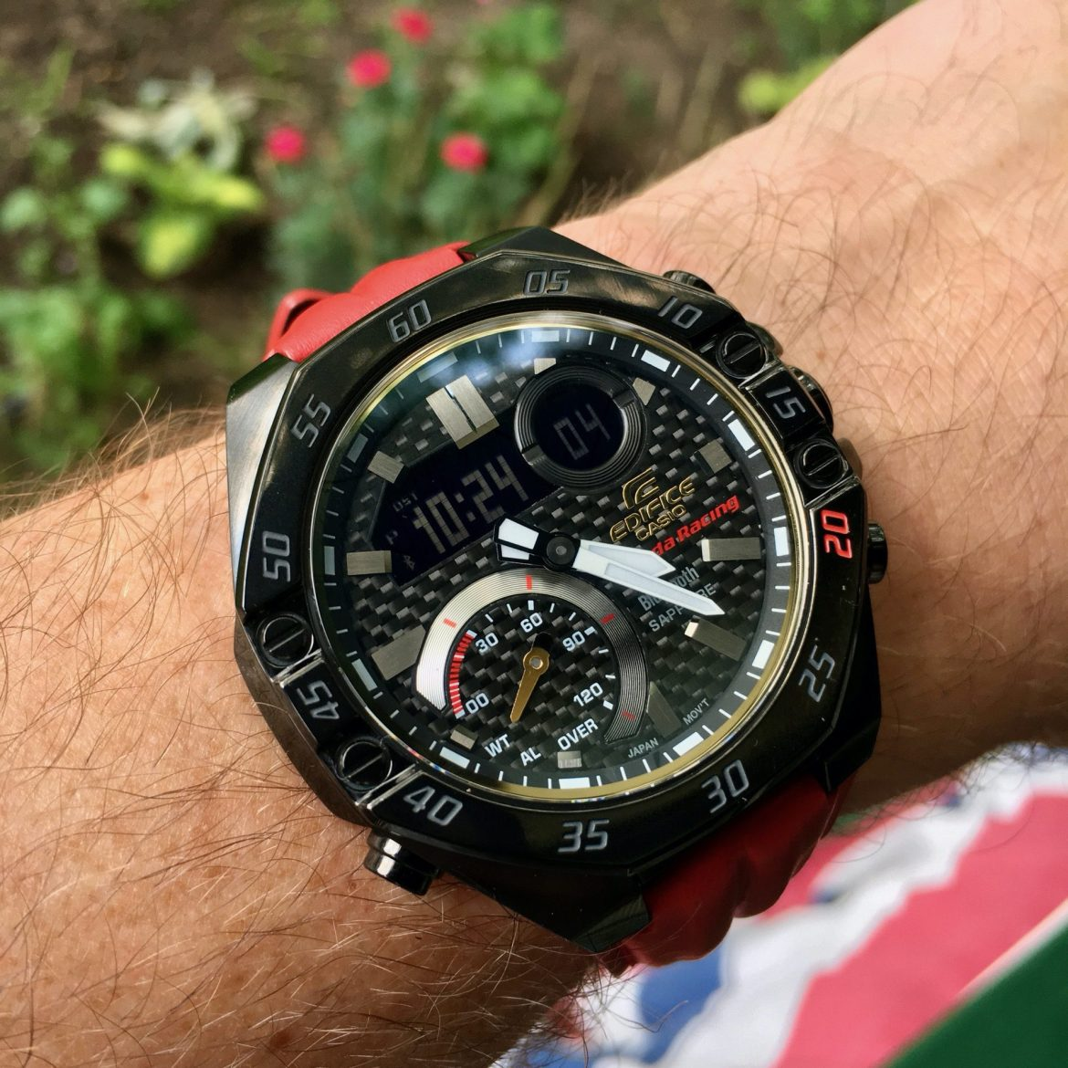 Put the pedal to the metal with the Casio Edifice Honda Racing edition