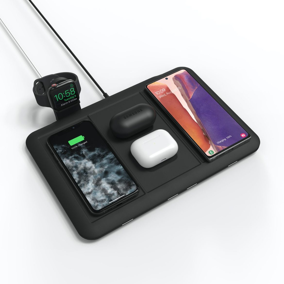 You can charge 4 things wirelessly at once with mophie