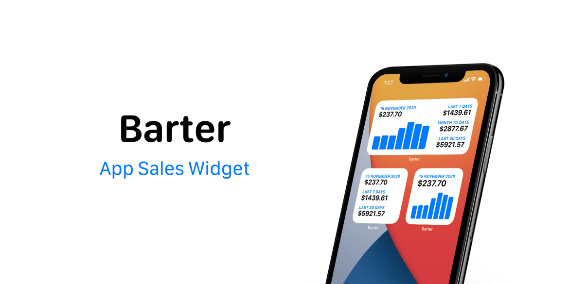 Barter, a widget for app developers, tracks your sales