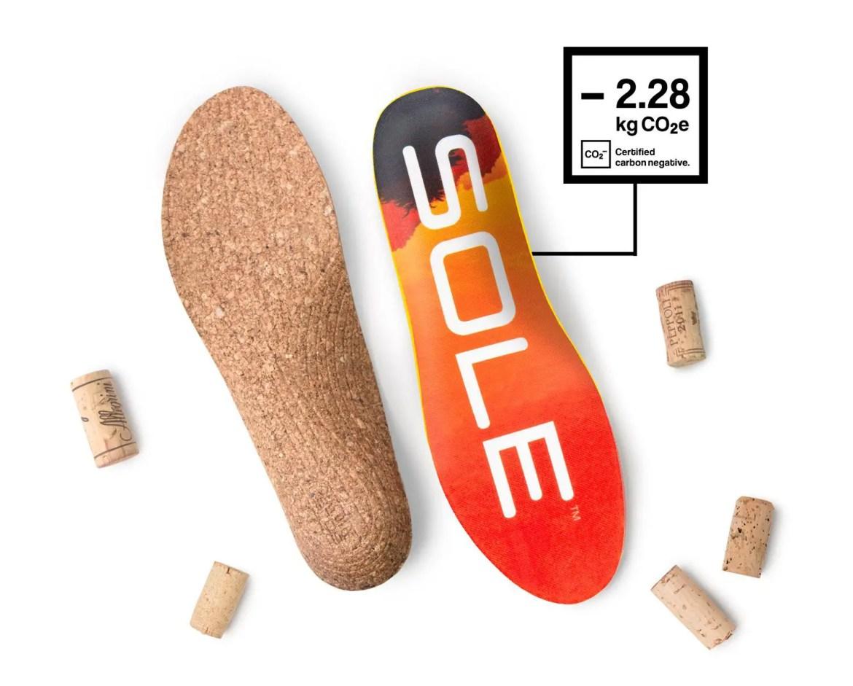 Introducing: SOLE Carbon-negative Cork Insoles