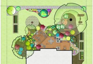 Landscape design in color.