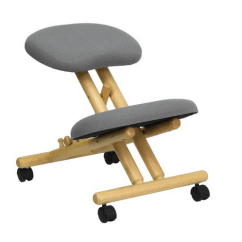 Ergonomic Chair Kneeling Review Used Covers And Sashes Flash Furniture Mobile Wooden In Gray Fabric