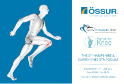 Hampshire and Surrey Knee Physiotherapy Symposium 2017