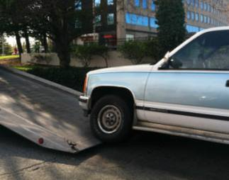 auto towed from car accident scene