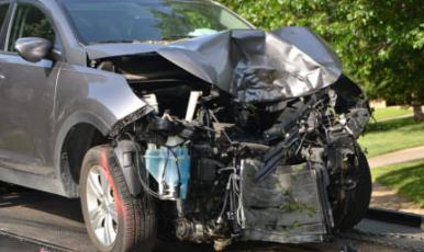 Car crash front heavy damage dover car accident lawyer