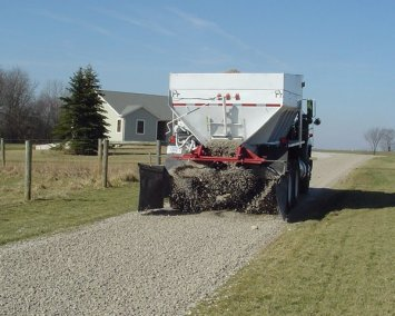 Specialty Spreader Truck holds 15 tons