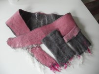 felted collar other side & wrist warmer