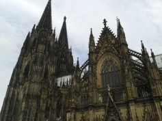 Detail of the well known Cologne Cathedral - UNESCO world heritage. Cologne was founded by Romans too.