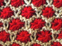 Aster flower knitting pattern