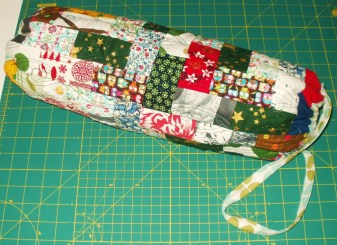 used my Christmas fabric scraps
